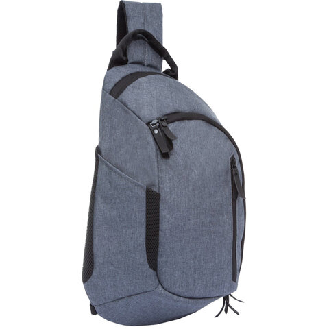Рюкзак GRIZZLY универсальный, с отделением для ноутбука, 1 лямка, серый, 46х32х11 см, RQ-914-2/2
