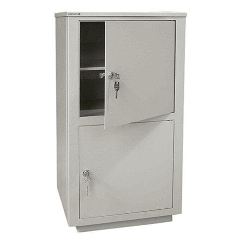 Шкаф металлический для документов НАДЕЖДА ШМС-2 (в890*ш464*г409мм), 2 отд., сварной