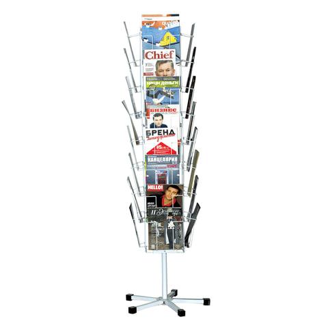 Стойки напольные для каталогов, журналов и рекламы