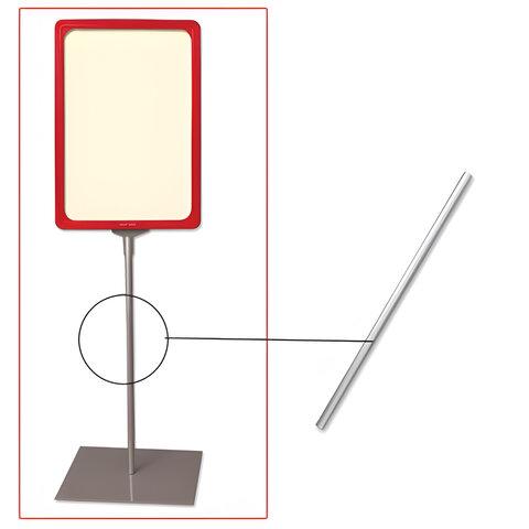 Трубка для сборки напольной стойки под рамку POS, высота 300 мм, диаметр 10 мм, 290266