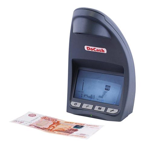 """Детектор банкнот DOCASH LITE D, ЖК-дисплей 12 см, просмотровый, ИК-детекция, спецэлемент """"М"""", DVM Lite D"""