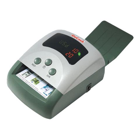 Детектор банкнот DOCASH 430, автоматический, RUB, USD, EUR, ИК-, магнитная детекция, АКБ