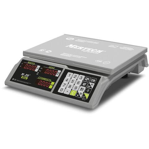 Весы торговые MERCURY M-ER 326-15.2 LED (0,05-15 кг), дискретность 2 г, платформа 325x230 мм, без стойки