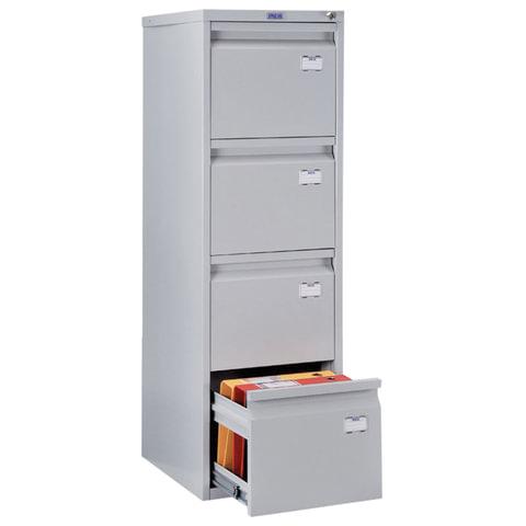 """Шкаф картотечный ПРАКТИК """"A-44"""" 1305х408х485 мм, 4 ящика для 168 подвесных папок, без папок"""