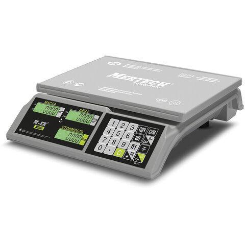 Весы торговые MERCURY M-ER 326AC-15.2 LCD (0,04-15 кг), дискретность 5 г, платформа 325x230 мм, без стойки