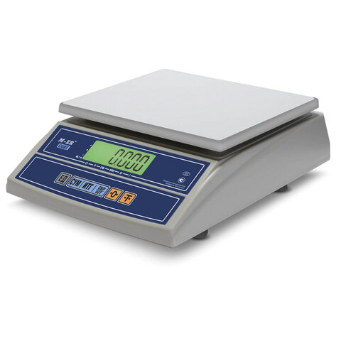 Весы фасовочные MERCURY M-ER 326AF-6.1 LCD (0,04-6 кг), дискретность 2 г, платформа 255x210 мм, без стойки