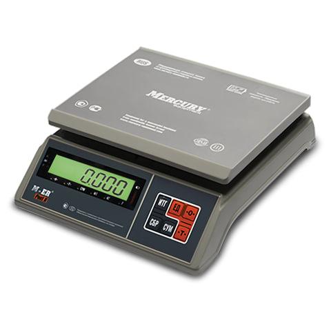 Весы фасовочные MERCURY M-ER 326AFU-6.01, LCD (0,02-6 кг), дискретность 2 г, платформа 255x205 мм, 326AFU-6.01 LCD