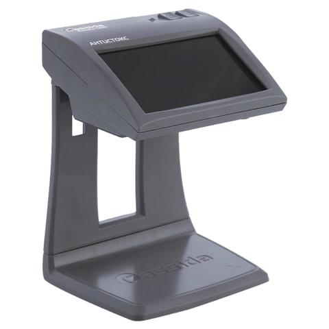 """Детектор банкнот CASSIDA Primero Laser, ЖК-дисплей 11 см, просмотровый, ИК, антитокс, спецэлемент""""М"""", 3391"""