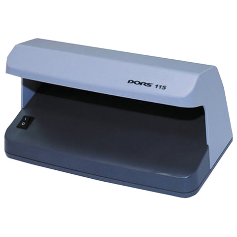 Детектор банкнот DORS 115, просмотровый, УФ детекция, серый, SYS-033271