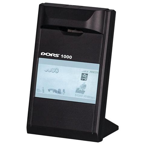 """Детектор банкнот DORS 1000 М3, ЖК-дисплей 10 см, просмотровый, ИК детекция, спецэлемент """"М"""", черный, FRZ-022087"""