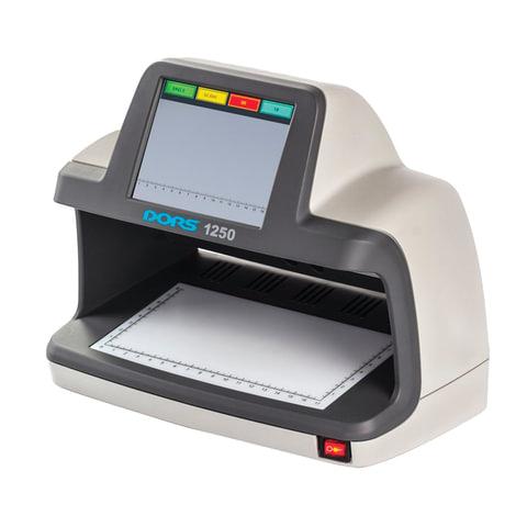"""Детектор банкнот DORS 1250, ЖК-дисплей 13 см, просмотровый, ИК, УФ детекция спецэлемент """"М"""", FRZ-031814"""