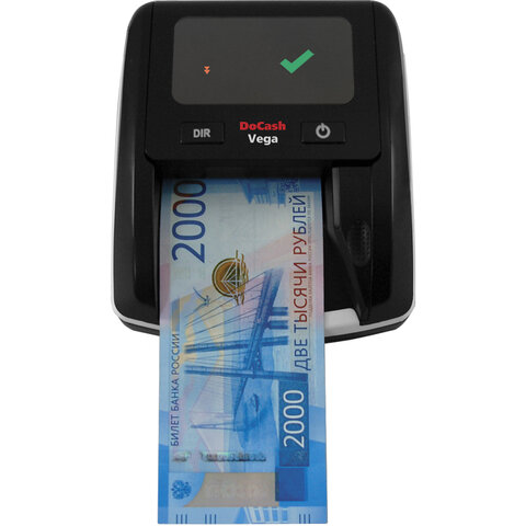 Детектор банкнот DOCASH VEGA, автоматический, ИК, МАГНИТНАЯ, АНТИСТОКС детекция, АКБ, 12398