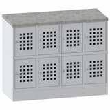 "Шкаф металлический для сумок со столом ПРАКТИК ""LS-42"", 970х1200х500 мм, 36 кг, разборный, s23099542102"