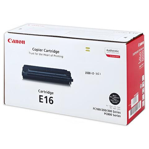 Картридж лазерный CANON (E-16) FC-108/128/PC750/880 и другие, оригинальный, ресурс 2000 стр., 1492A003