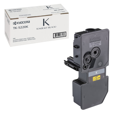Тонер-картридж KYOCERA (TK-5220K) ECOSYS P5021cdn/cdw/M5521cdn/cdw, черный, ресурс 1200 стр., оригинальный, 1T02R90NL1