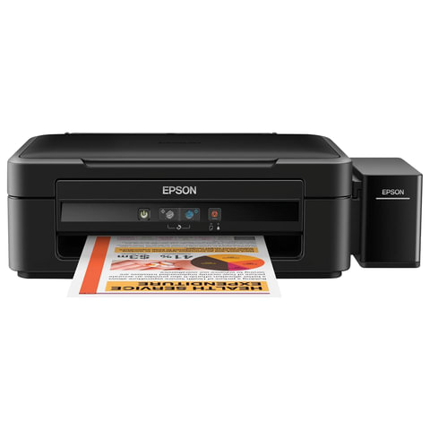 МФУ струйное EPSON L222 (принтер, копир, сканер), А4, 5760х1440, 27стр./мин, с СНПЧ (без кабеля USB), C11CE56403