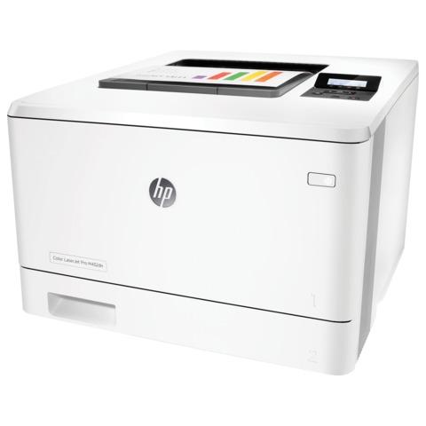 Принтер лазерный ЦВЕТНОЙ HP LaserJet Pro 400 M452dn, А4, 27 стр./мин., 50000 стр./мес., ДУПЛЕКС, сетевая карта, без кабеля USB, CF389A