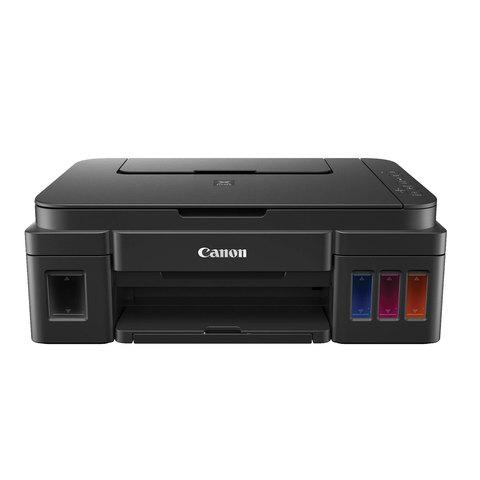 МФУ струйное CANON PIXMA G2400 (принтер, копир, сканер), А4, 4800х1200, 8,8 стр./мин., с СНПЧ (без кабеля USB), 0617C009