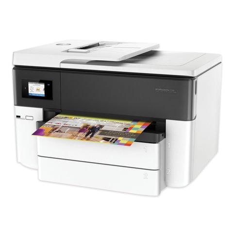МФУ струйное HP OfficeJet Pro 7740 (принтер, сканер, копир, факс), A3, 22 стр./мин, 30000 стр./м, 4800х1200, ДУПЛЕКС, WI-FI, с/к, G5J38A