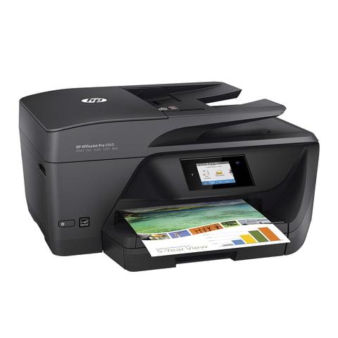 МФУ струйное HP OfficeJet Pro 6960 (принтер, сканер, копир, факс), A4, 600х1200, 18 с./мин, 20000 с./мес. ДУПЛЕКС, АПД, Wi-Fi, с/к, J7K33A