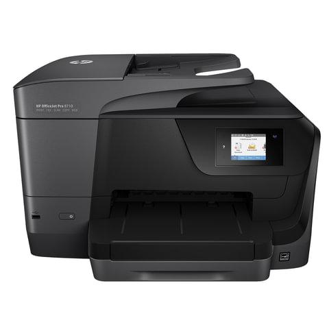 МФУ струйное HP OfficeJet Pro 8710 (принтер, сканер, копир, факс), А4, 4800х1200,22 стр./мин.,25000 стр/мес, ДУПЛЕКС АПД Wi-Fi с/к, D9L18A