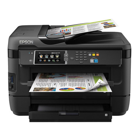 МФУ струйное EPSON WorkForce WF-7620DTWF (принтер, копир, сканер, факс), A3, 4800x2400, 32 стр./мин, ДАПД, ДУПЛЕКС, с/к, Wi-Fi, C11CC97302
