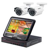 """Комплект видеонаблюдения FALCON EYE FE-1104COMBO KIT """"Light"""", 4-х канальный, гибридный регистратор, дисплей 10"""", 2 уличные камеры"""