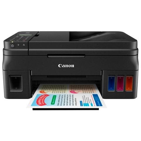 МФУ струйное CANON PIXMA G4400 (принтер, копир, сканер, факс), А4, 9 стр./мин., АПД, Wi-Fi, с СНПЧ (без кабеля USB), 1515C009