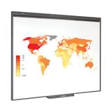 """Интерактивная доска 77"""" SMART Board SB480, оптическая, 157х117 см, 4:3, USB, 2 пользователя (NOTEBOOK 2011 года), SB480 (NB2011)"""
