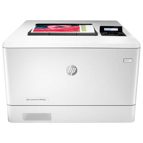 Принтер лазерный ЦВЕТНОЙ HP Color LaserJet Pro M454dn, А4, 27 стр/мин, 50000 стр/мес, ДУПЛЕКС, сетевая карта, W1Y44A