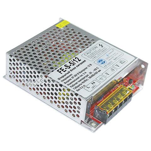 Блок питания FALCON EYE FE-S-5/12, входное напряжение 87-264 В, выходное 12 В, номинальный ток 5 A, 00-00106420