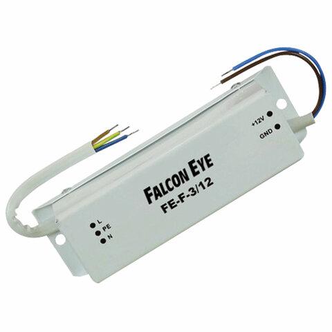 Блок питания FALCON EYE FE-F-3/12 уличный IP67, входное напряжение 150-242 В, выходное 12 В, номинальный ток 3 А, 00-00113114