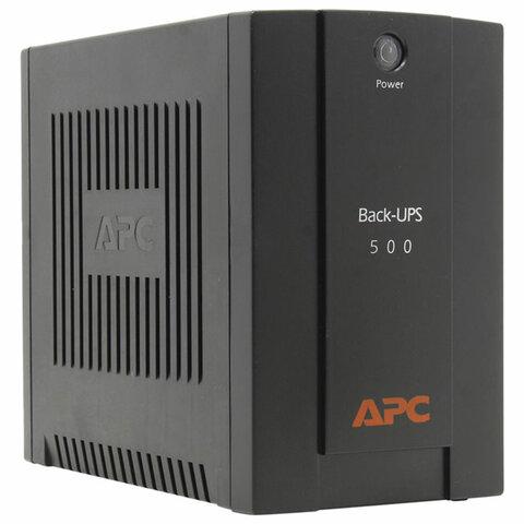 Источник бесперебойного питания APC Back-UPS BX500CI, 500VA (300 W), 3 розетки IEC 320, черный