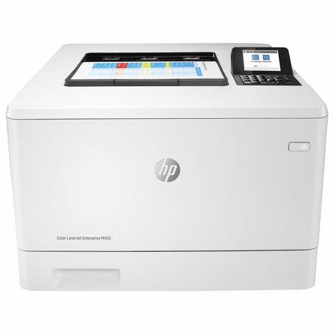 Принтер лазерный ЦВЕТНОЙ HP Color LaserJet Enterprise M455dn, А4, 27 стр./мин, 55000 стр./мес., ДУПЛЕКС, ДАПД, с/к, 3PZ95A