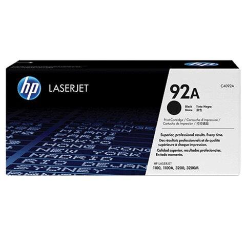 Картридж лазерный HP (C4092A)  LaserJet 1100/1100A/3200, №92А, ориг., ресурс 2500 стр.