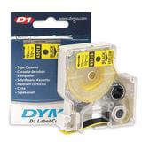 Картридж для принтеров этикеток DYMO D1, 12 мм х 7 м, лента пластиковая, чёрный шрифт, желтый фон, S0720580
