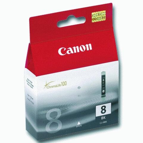 Картридж струйный CANON (CLI-8Bk)  Pixma iP4200/4300/4500/5200/5300, черный, ориг.