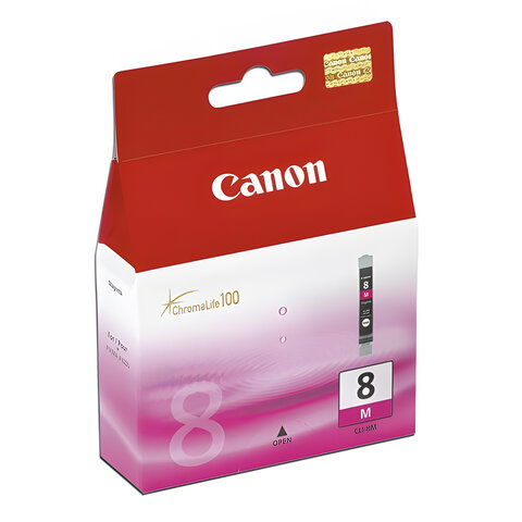 Картридж струйный CANON (CLI-8M) Pixma iP4200/4300/5200/5300, пурпурный, оригинальный, 0622В024