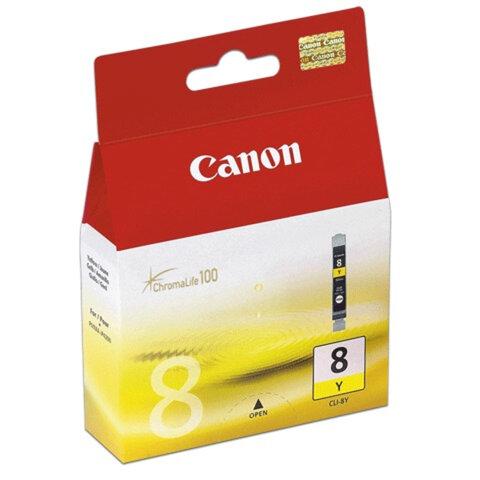 Картридж струйный CANON (CLI-8Y) Pixma iP4200/4300/4500/5200/5300, желтый, оригинальный
