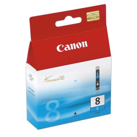 Картридж струйный CANON (CLI-8С) Pixma iP4200/4300/4500/5200/5300, голубой, оригинальный, CLI-8C