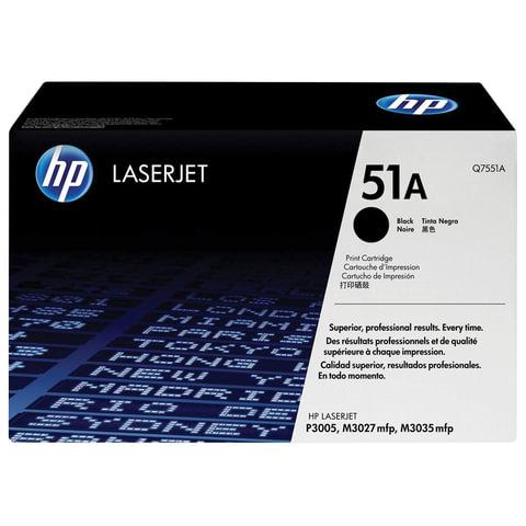 Картридж лазерный HP (Q7551A) LaserJet M3035/3027/P3005 и другие, №51А, оригинальный, 6500 стр.