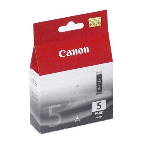 Картридж струйный CANON (PGI-5bk) Pixma iP4200/4300/4500/5200/5300, фото, оригинальный, PGI-5BK