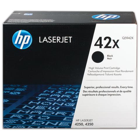 Картридж лазерный HP (Q5942X) LaserJet 4250/4350 и другие, №42X, оригинальный, ресурс 20000 стр.