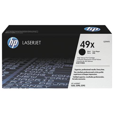 Картридж лазерный HP (Q5949X) LaserJet 1320/3390/3392 и другие, №49X, оригинальный, ресурс 6000 стр.