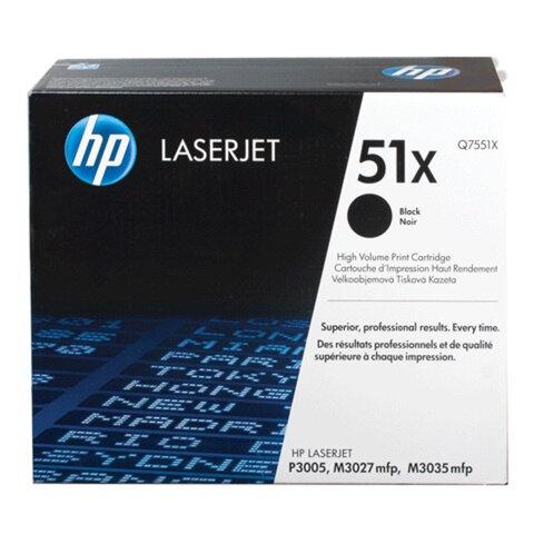 Картридж лазерный HP (Q7551X) LaserJet М3035/3027/P3005 и другие, №51X, оригинальный, 13000 стр.