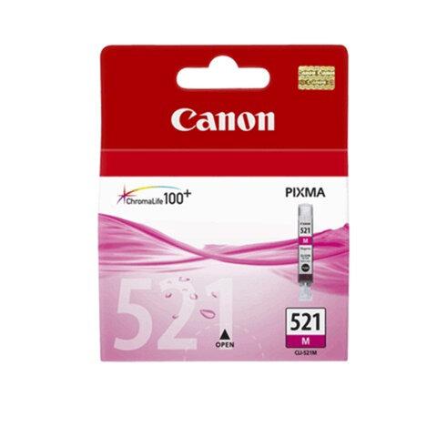 Картридж струйный CANON (CLI-521M) Pixma MP540/630/980, пурпурный, оригинальный, 2935B004