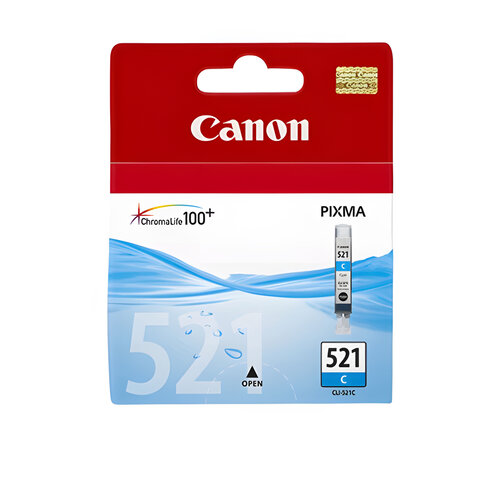 Картридж струйный CANON (CLI-521С) Pixma MP540/630/980, голубой, оригинальный, 2934B004