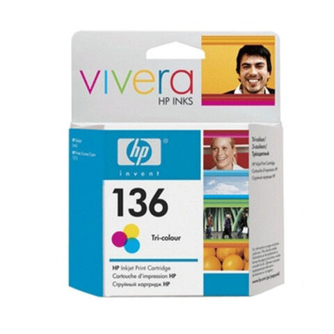 Картридж струйный HP (C9361HE) Officejet 6313/6315/Photosmart C3183, №136, цветной, оригинальный