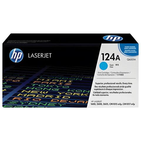 Картридж лазерный HP (Q6001A) ColorLaserJet CM1015/2600 и другие, голубой, оригинальный, 2000 стр.