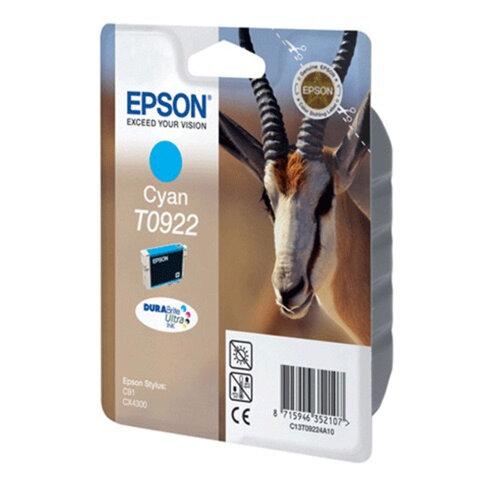 Картридж струйный EPSON (T10824A10) Stylus C91/CX4300, голубой, оригинальный, C13T10824A10